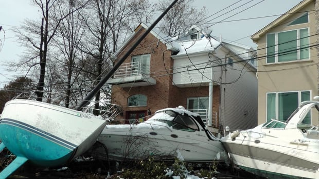 The scene at Lockwood Boat Works in South Amboy, N.J., was similar to what many marina owners found when they returned to their yards after Sandy hit.
