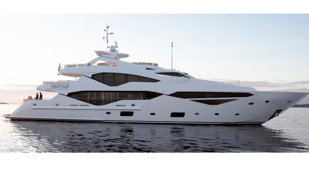 Sunseeker's new models include the 131 Yacht, which is shown in this rendering. The boat is set to debut at the London Boat Show next month.
