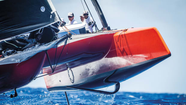 Gunboat CEO Peter Johnstone remains confident that the investment in the company's G4 model, shown racing in the Les Voiles de St. Barths regatta, will eventually pay off.