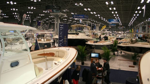 The New York Boat Show delivered solid opening-day attendance numbers Wednesday in Manhattan. Photo by Rich Armstrong.