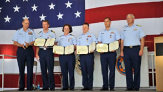 Coast Guard award ceremony