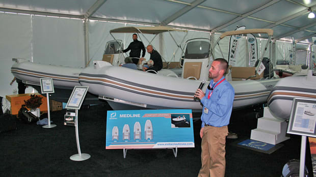 Bryan Kamerzel, director of East Coast sales for Zodiac Nautic North America, explains the design highlights of the new Medline 660 and 740 models.
