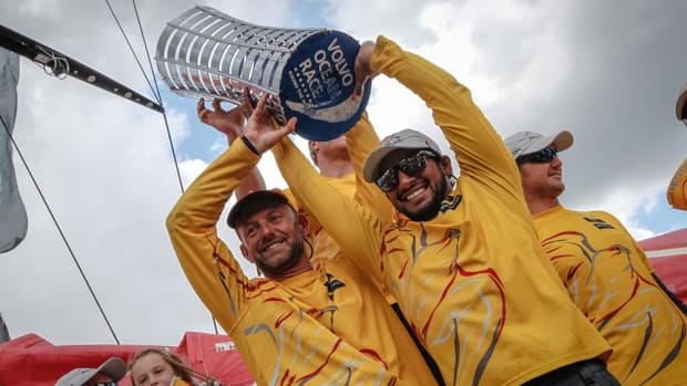 June 22, 2015. The fleet arrives in Gothenburg Abu Dhabi Ocean Racing, winners of the Volvo Ocean Race 2014-15.