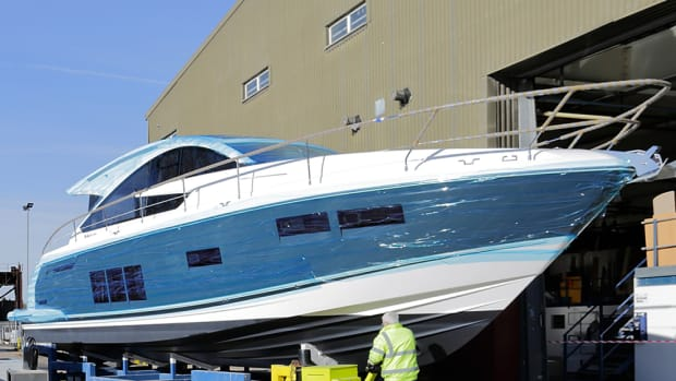 Fairline Yachts' Targa 48 GT has an electric hardtop and is powered by Volvo Penta IPS engines.