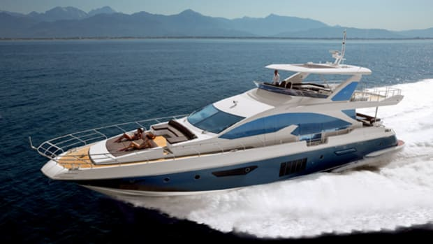 Azimut's new marketing strategy emphasizes its Italian heritage. The Azimut 80 is shown here.
