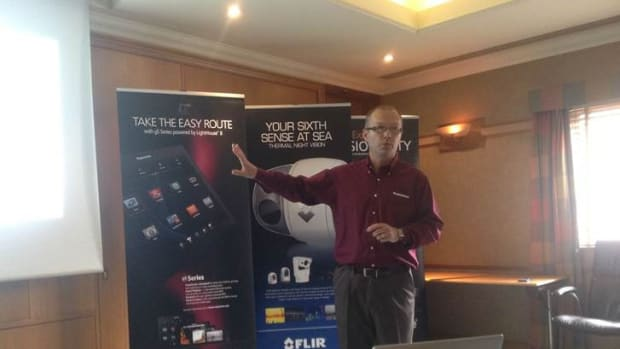 Raymarine director of product management Chris Jones talks about the company's latest products such as its Lighthouse II user interface.