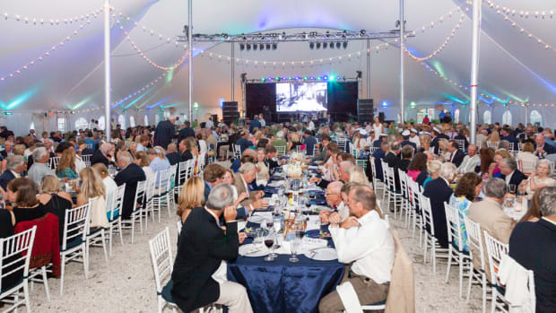 Sponsorship support, table sales, three auctions (live, collector's, and reverse auction) raised more than $200,000 at the IYRS Summer Gala.