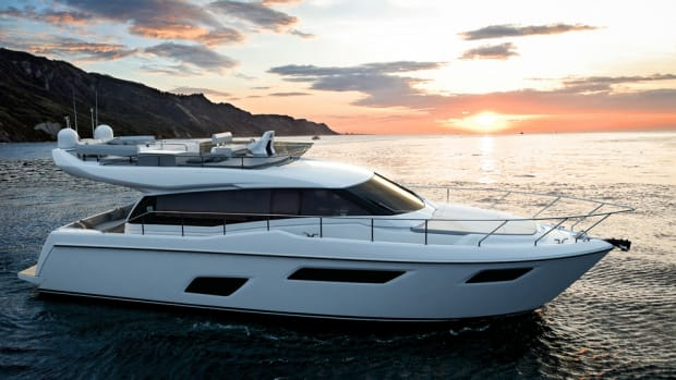 The Ferretti Group said its new 450, set for launch next summer, is designed to attract boaters younger in age or experience as well as those who have a lengthy yachting history.