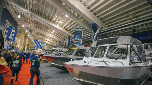 Visitors, many dressed in Seahawks gear, had more than 1,000 boats to see.