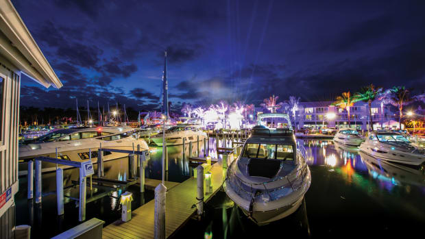 Sea Ray's 15th annual yacht expo held on Florida's Captiva Island drew consumers, dealers and brokers.