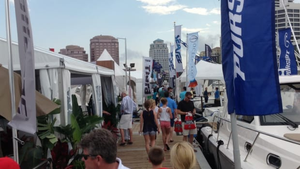 Attendance was up 17 percent at this year's Palm Beach International Boat Show, which is in its 30th year.
