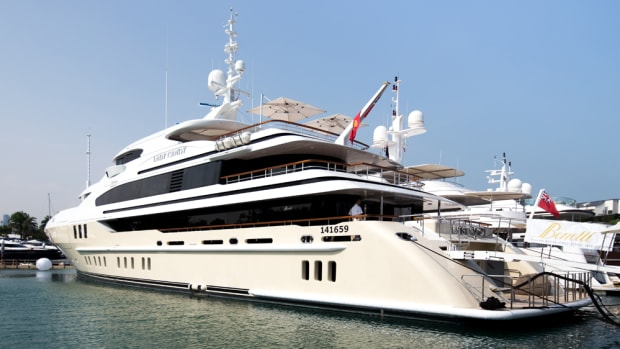 The new 184-foot Benetti Lady Candy was the largest yacht on display at this year's Singapore Yacht Show.