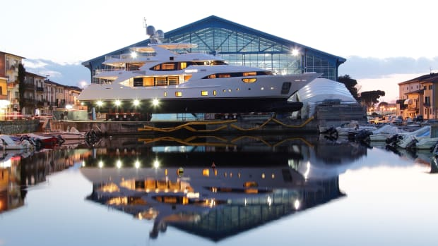 """This Benetti Crystal 140 was designed in """"a colonial atmosphere with an African mood,"""" the company said."""
