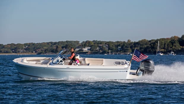 Vanquish Boats wanted Marblehead, Mass.-based Zurn Yacht Design to retain the narrow hull design for its new 26 Dual Console. Photo by Billy Black.
