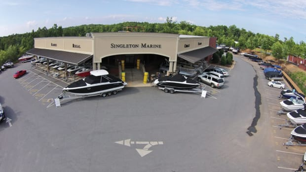 This facility in Buford, Ga., is the Atlanta area's principal outlet for Singleton's new-boat lineup.
