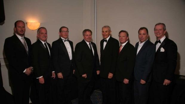 The FYBA's 2015-16 board members are: Paul Burgess (left); Gary Smith; Paul Flannery; Jeff Erdmann; Bob Zarchen; Bruce Schattenburg; Jeff Partin; and Bob Saxon.