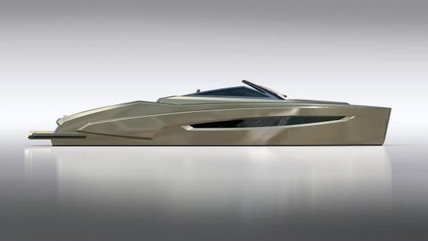 A rendering of the Suite 47 Kifaru sport boat.