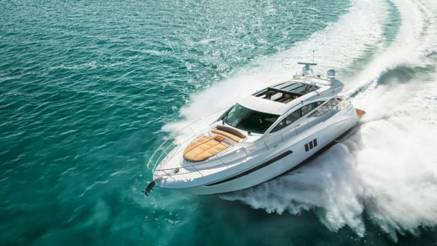 Demand for new models like this Sea Ray 590 L Express have helped boost the company's sales.