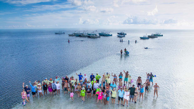 Cobia Boats owners caravanned from Florida to the Bahamas for a rendezvous.