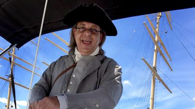 A Ben Franklin impersonator will provide historic sailboat tours of Philadelphia's waterfront for attendees of the Democratic National Convention.