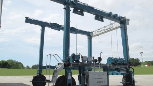 Marine Travelift says its 85 BFMII boat hoist is designed to align with market trends and the growing size of vessels.