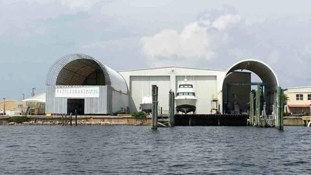 Bertram Yachts' new headquarters is an existing 120,000-square-foot shipyard and marine service facility on Tampa Bay.