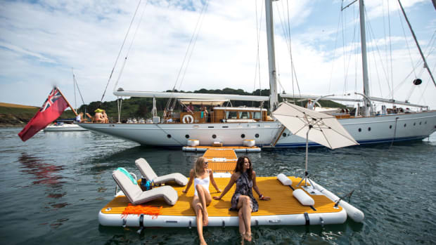 MC Yacht International's OceaNemo 44 can be outfitted with numerous water toys.