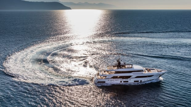 The Ferretti Group is showcasing its new Navetta 37 at the Monaco Yacht Show.