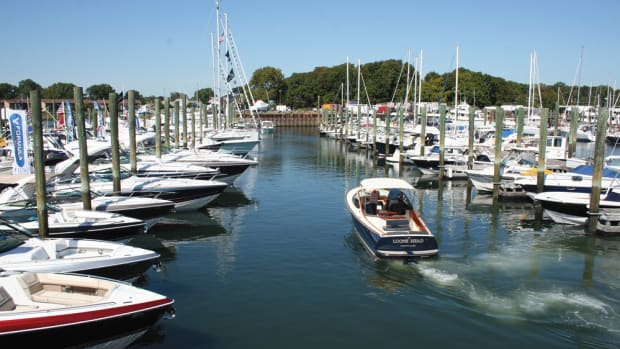 This year's Norwalk Boat Show is 20 percent larger than the 2015 show, where this photo was taken.