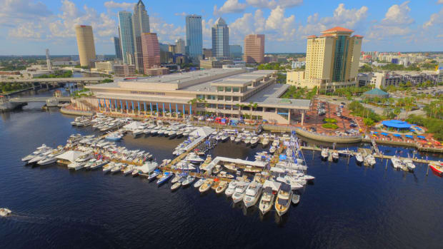 The Progressive Insurance Tampa Boat Show had 136 boats in the water and 261 more in the Tampa Convention Center this year.