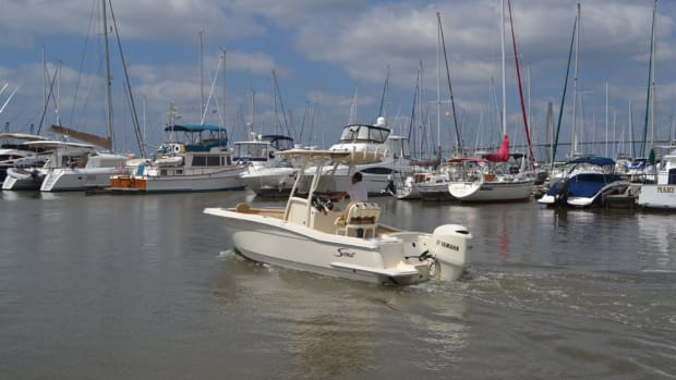 The 215 XSF was one of three new boats that Scout debuted at its dealer meeting in South Carolina.