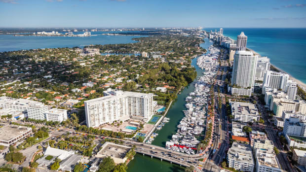 Yachts Miami Beach spans more than a mile along Collins Avenue from 41st Street to 54th Street.
