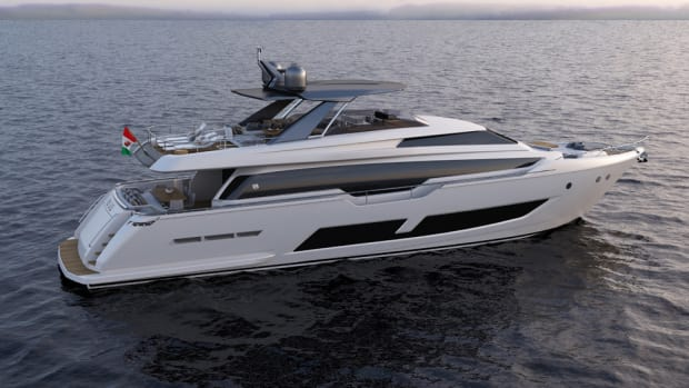 The Ferretti Group debuted the Ferretti 850 last month at the Cannes Yachting Festival.
