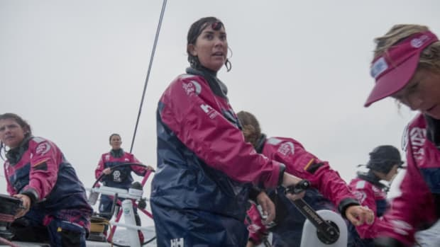 The all-woman Volvo Ocean Race Team SCA competed in 2014-15. New rules seek to boost the number of female contestants.
