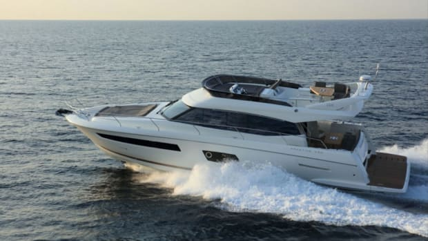 The Beneteau Group says strong sales of its Prestige brand has made it a leader in the U.S. express cruiser segment from 50 to 60 feet for the first time. This Prestige 560 is a new model for 2017.