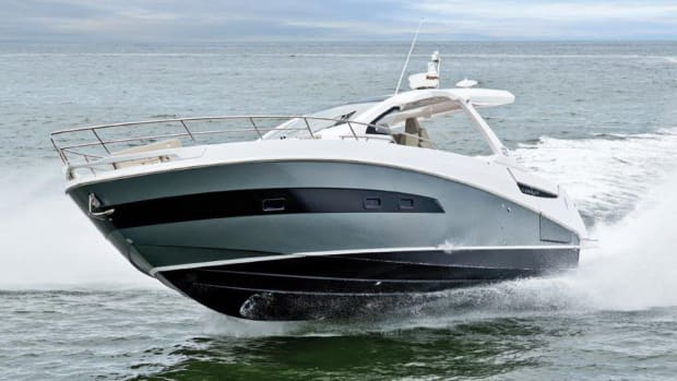 The Verve 40 from Azimut has three Mercury Verado engines and a top speed of 44 knots.