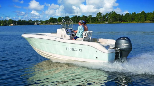 Marine Products Corp. said a spike in third-quarter sales was attributable to increasing unit sales of boats such as this Robalo R180.