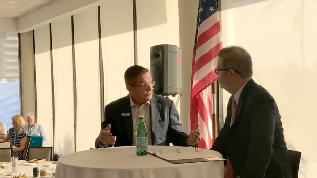 MarineMax president and CEO Bill McGill (left) sat Thursday for a question-and-answer session with Soundings Trade Only and Anglers Journal editor-in-chief Bill Sisson.