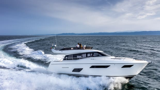 Two Cummins QSB 6.7 engines power the new Ferretti Yachts 450.