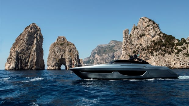 Riva's 76-foot Bahamas convertible is based on the technical platform of the Perseo, the brand's coupe model.
