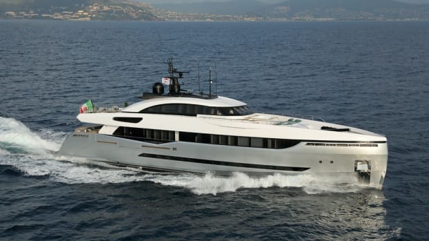 The 131-foot M/Y Eleonora III is a sport hybrid yacht from Columbus Yachts, a Palumbo Group brand.