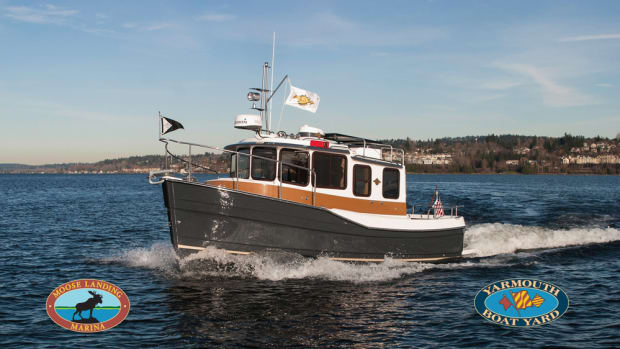 Moose Landing Marina will sell Ranger Tugs models that include this 25-footer.
