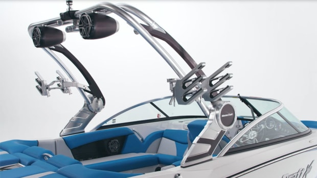 New features on MasterCraft's 2017 models include customizable new ZFT7 Power Tower.