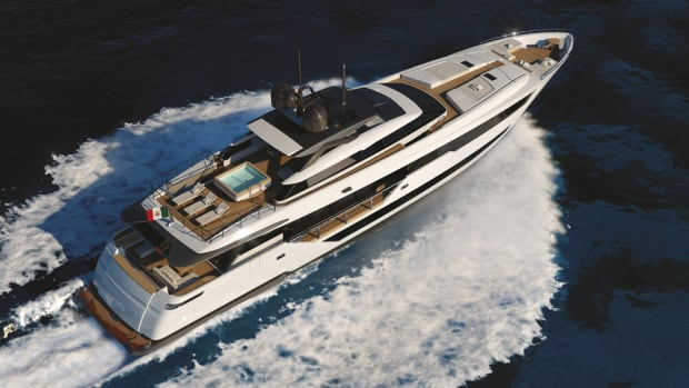 The concept for Ferretti's Custom Line 120 was presented at the Fort Lauderdale International Boat Show earlier this month.