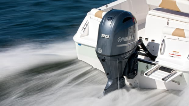 Yamaha has introduced a new 90-hp outboard that's more powerful but 13 pounds lighter than its predecessor.