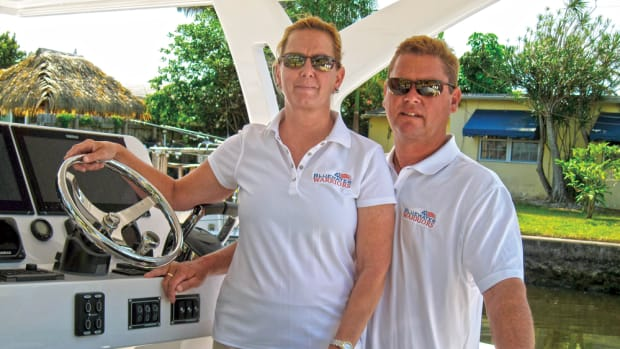 Karen and Jim Gregos run Blue Water Warriors, a charity staffed by volunteers that takes wounded veterans out on the water.