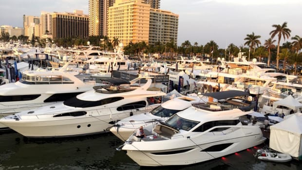 Exhibitors said they were pleased with the new look and layout of Yachts Miami Beach.
