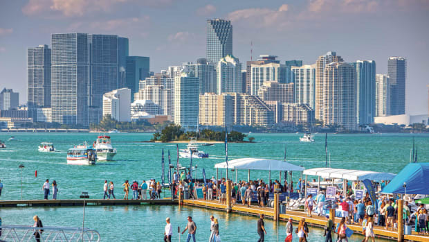 The Miami International Boat Show will take place for the second year at the Miami Marine Stadium Park and Basin on Virginia Key.