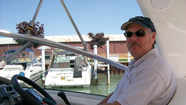 Coburn does his boating out of Belle Maer Harbor Marina on Michigan's Lake St. Clair.