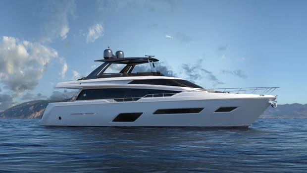 The new Ferretti Yachts 780 will have twin MAN engines with 1,400 mhp as standard power.